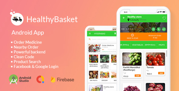 [Free Download] Healthy Basket – Ecommerce Android App | Nearby get delivered in just 5 mins (Nulled) [Latest Version]