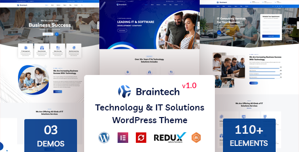[Free Download] Braintech – Technology & IT Solutions WordPress Theme (Nulled) [Latest Version]