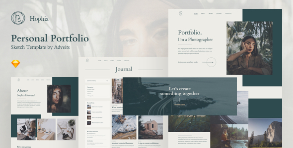 [Free Download] Hophia – Personal Portfolio Sketch Template (Nulled) [Latest Version]