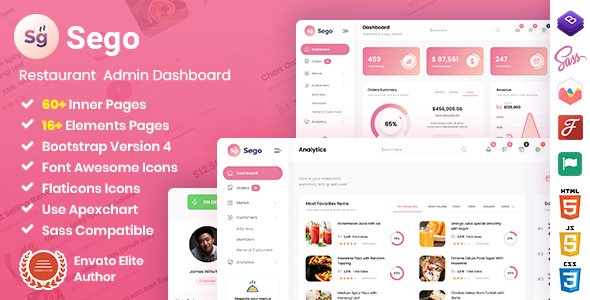 [Free Download] Sego – Restaurant Admin Dashboard Bootstrap HTML Template (Nulled) [Latest Version]