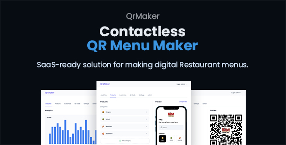 [Free Download] QrMaker – SaaS – Contactless QR Restaurant Menu Maker (Nulled) [Latest Version]