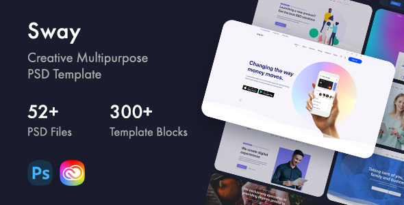 [Free Download] Sway – Creative Multipurpose PSD Template (Nulled) [Latest Version]