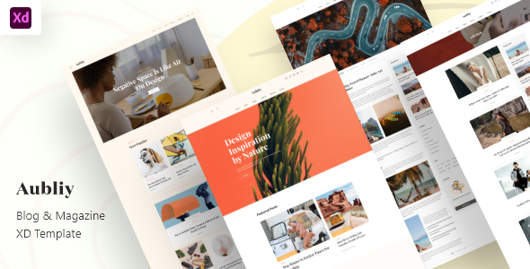 [Free Download] Aubliy – Blog & Magazine Adobe XD Template (Nulled) [Latest Version]