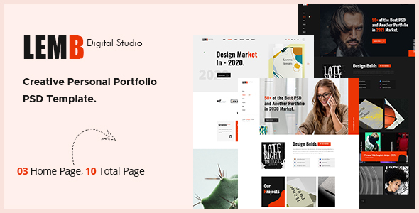 [Free Download] Lemb – Creative Portfolio PSD Template (Nulled) [Latest Version]