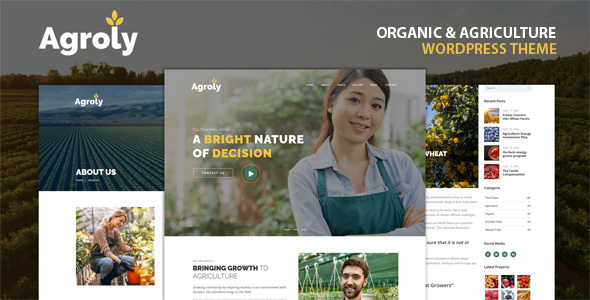 [Free Download] Agroly – Organic & Agriculture Food WordPress Theme (Nulled) [Latest Version]
