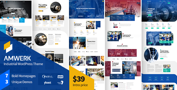 [Free Download] Amwerk – Industry WordPress Theme (Nulled) [Latest Version]