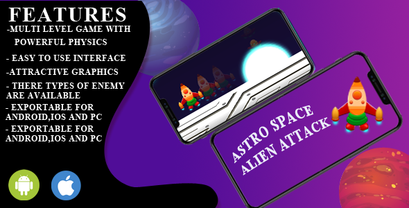 [Free Download] Astro space  alien attack game unity engine (Nulled) [Latest Version]