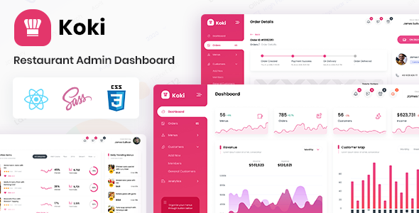 [Free Download] Koki – Restaurant Food Admin Dashboard React Template (Nulled) [Latest Version]