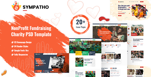 [Free Download] Sympatho – Charity PSD Template (Nulled) [Latest Version]