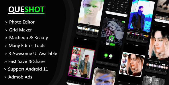 [Free Download] QueShot Photo Editor Pro – Collage Maker, Makeup & Beauty – All In One Photo Editor. (Nulled) [Latest Version]