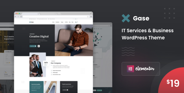 [Free Download] Gase – IT Services & Business WordPress Theme (Nulled) [Latest Version]