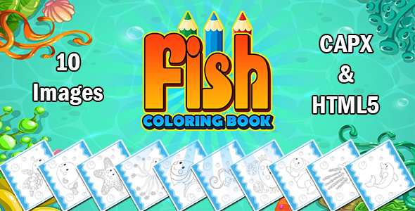 [Free Download] Fish Coloring Book App (CAPX and HTML5) (Nulled) [Latest Version]