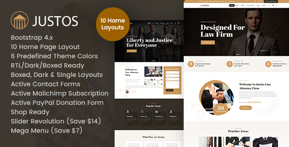 [Free Download] Justos – Attorney, Lawyer HTML Template (Nulled) [Latest Version]