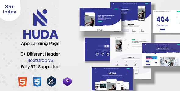 [Free Download] Huda   App Landing Page (Nulled) [Latest Version]