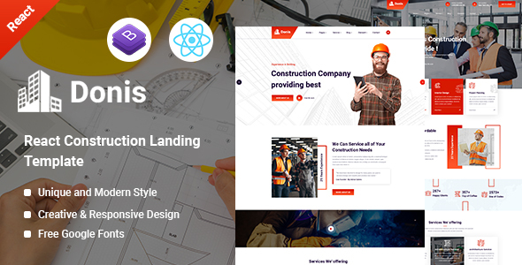 [Free Download] Donis – Construction React Template (Nulled) [Latest Version]