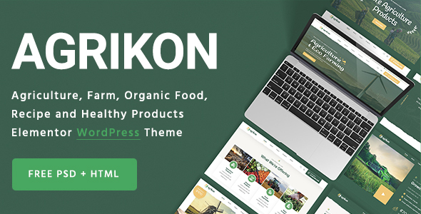 [Free Download] Agrikon – Organic Farm Agriculture WordPress Theme (Nulled) [Latest Version]