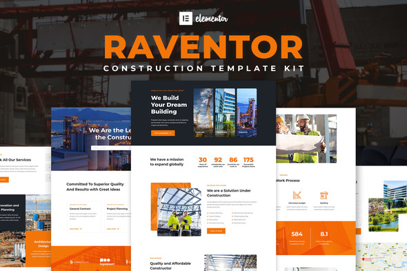 [Free Download] Raventor – Construction & Architecture Elementor Template Kit (Nulled) [Latest Version]