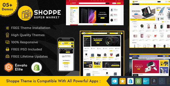 [Free Download] Shoppe – Shopify Multi-Purpose Responsive Theme (Nulled) [Latest Version]