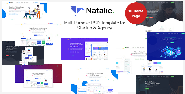 [Free Download] Natalie – MultiPurpose PSD Template for Startup & Agency (Nulled) [Latest Version]