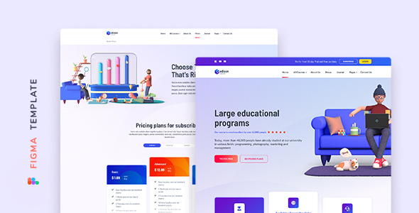 [Free Download] Edison – Online Education Template for Figma (Nulled) [Latest Version]