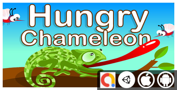 [Free Download] Hungry Chameleon Unity Casual Game For Android and iOS Game With Admob(Banner, Interstitial) (Nulled) [Latest Version]