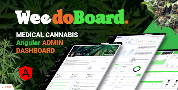 [Free Download] Weedoboard | Cannabis Dashboard Angular Template (Nulled) [Latest Version]