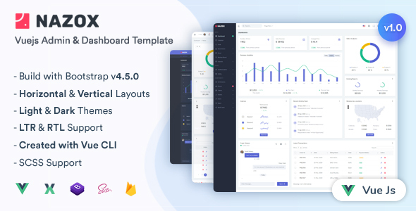 [Free Download] Nazox – Vuejs Admin & Dashboard Template (Nulled) [Latest Version]