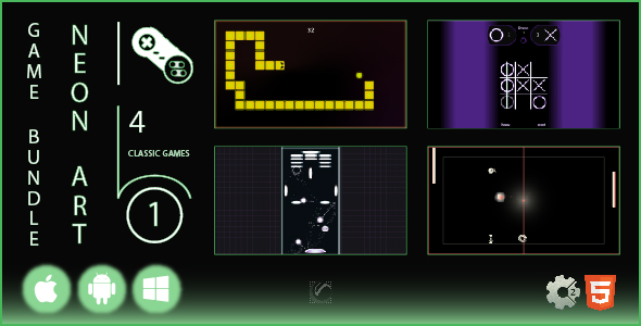 [Free Download] Game Bundle Neon Art 1 • HTML5 + Construct Games (Nulled) [Latest Version]