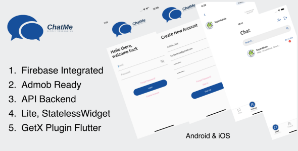 [Free Download] ChatMe – Simply Messaging Flutter (Nulled) [Latest Version]