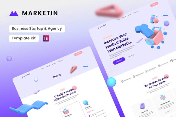 [Free Download] Marketin – Business Startup & Agency Elementor Template Kit (Nulled) [Latest Version]