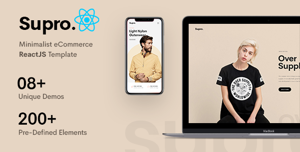 [Free Download] Supro – Minimalist eCommerce ReactJS Template (Nulled) [Latest Version]