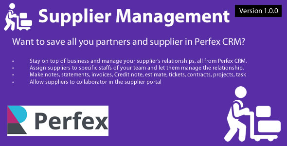 [Free Download] Supplier Management module for Perfex CRM (Nulled) [Latest Version]