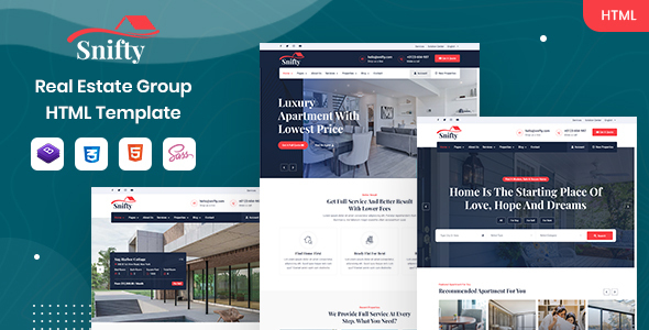 [Free Download] Snifty – Real Estate Group HTML Template (Nulled) [Latest Version]