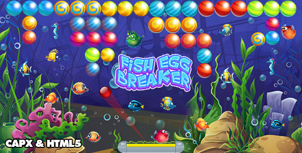 [Free Download] Fish Egg Breaker (CAPX and HTML5) Bricks Breaker Game (Nulled) [Latest Version]