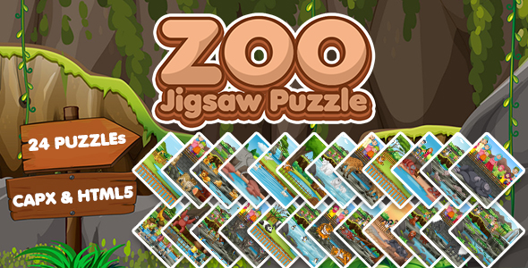 [Free Download] Zoo Jigsaw Puzzle Game (CAPX and HTML5) (Nulled) [Latest Version]