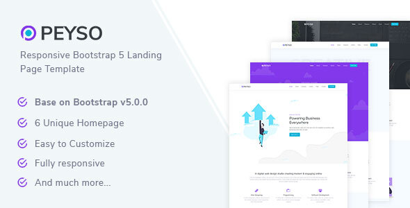 [Free Download] Peyso – Bootstrap 5 Landing Page Template (Nulled) [Latest Version]