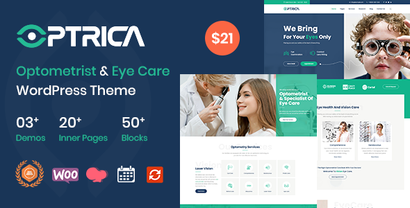 [Free Download] Optrica – Optometrist & Eye Care WordPress Theme (Nulled) [Latest Version]