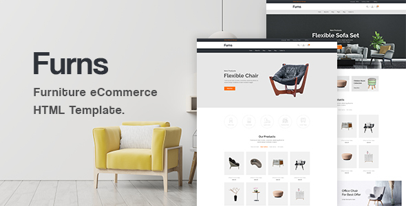 [Free Download] Furns – Furniture eCommerce HTML Template (Nulled) [Latest Version]
