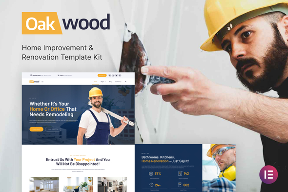 [Free Download] Oakwood – Home Improvement & Renovation Template Kit (Nulled) [Latest Version]