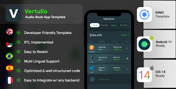[Free Download] Cryptocurrency Management Android App Template+ iOS App Template  IONIC 5   Vertulio (Nulled) [Latest Version]