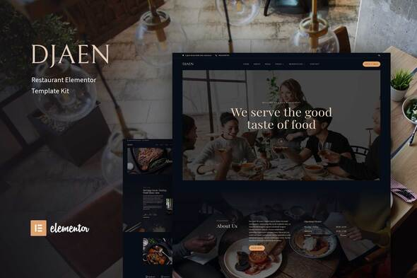 [Free Download] Djaen – Restaurant Elementor Template Kit (Nulled) [Latest Version]