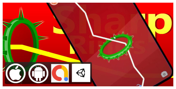 [Free Download] Sharp Rings Unity Arcade and Casual Game for Android and iOS with Admob ad (Nulled) [Latest Version]