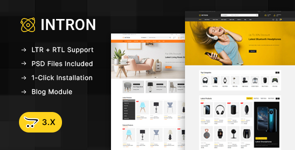 [Free Download] Intron – Mega Store OpenCart 3.x Responsive Theme (Nulled) [Latest Version]