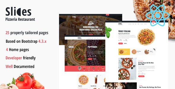[Free Download] Slices – Pizzeria React Template (Nulled) [Latest Version]