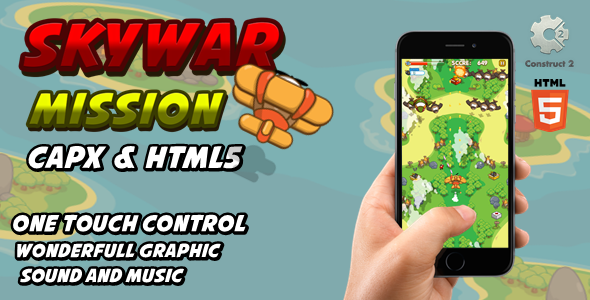 [Free Download] Skywar Mission – Html5 Game (Nulled) [Latest Version]