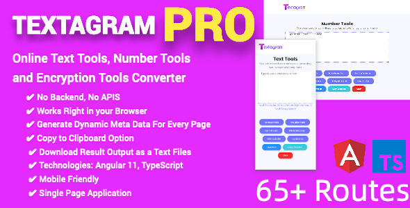 [Free Download] PRO Online Text Tools, Number Tools and Encryption Tools Converter Full Production Ready(Angular 11) (Nulled) [Latest Version]