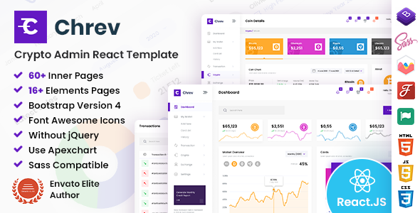 [Free Download] Chrev – Admin & Dashboard React Template (Nulled) [Latest Version]