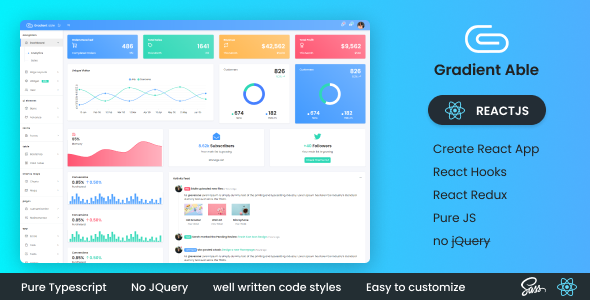 [Free Download] Gradient Able Reactjs Admin Dashboard (Nulled) [Latest Version]