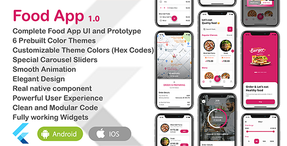 [Free Download] Food App – Flutter UI Theme (Nulled) [Latest Version]