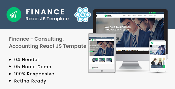 [Free Download] Finance – Consulting, Accounting React JS Template (Nulled) [Latest Version]